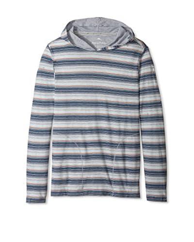 Tommy Bahama Men's Long Sleeve Yarn Dyed Stripe Hoodie