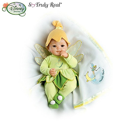 Cheryl Hill So Truly Real Baby Doll Dressed In Disney Tinker Bell Outfit: Think Tink! By Ashton Drake