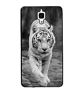 White Tiger 2D Hard Polycarbonate Designer Back Case Cover for Xiaomi Redmi Mi 4 :: Redmi Mi 4