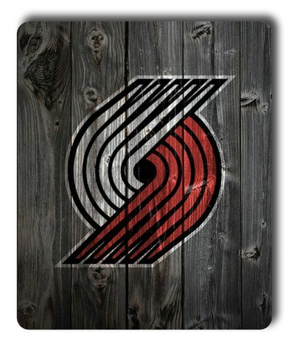 Portland-Trailblazers-Wood-Rectangle-Mouse-Pad-by-eeMuse