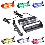 Wecade® High Power Super Bright 6 Colors 48 Flashing Mode Free switching Emergency Vehicle Dash Warning Strobe LED Flash Light Safety