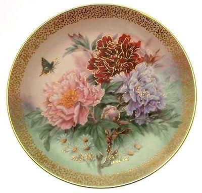 c1991 Lena Liu Peony Prelude Symphony of Shimmering Beauty plate CP1569