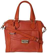 Hot Sale Cole Haan Small Structured B41327 Satchel,Orange Pop,One Size