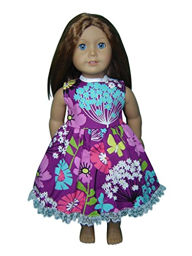 "Glamerup Collection: Leslie - 18"" Doll Dress, Butterflies, Flowers, Lace"