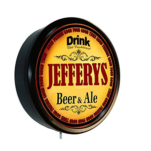 JEFFERYS Beer and Ale Cerveza Lighted Wall Sign (Jeffery Beers compare prices)
