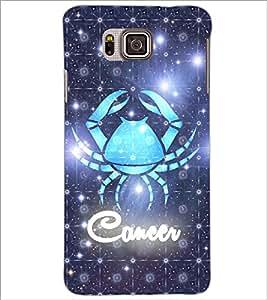 PrintDhaba Zodiac Cancer D-3243 Back Case Cover for SAMSUNG GALAXY ALPHA (Multi-Coloured)
