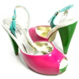 pink and green pumps