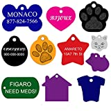Dog ID Tags Personalized   Many Shapes to Choose From  8 Colors   by CNATTAGS