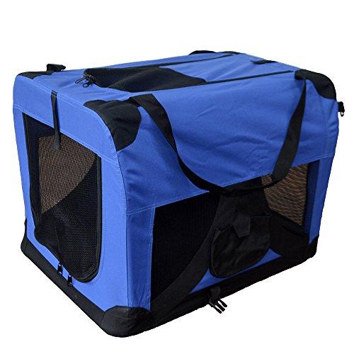 Hundetransportbox-Hundebox-faltbar-Transportbox-Autotransportbox-Faltbox-Transportasche-501-D01-royal-blau-Grsse-L