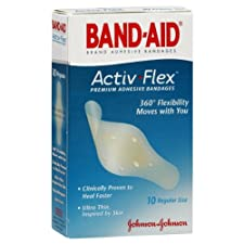 Band-Aid Activ-Flex Adhesive Bandages, Regular Size, 10 ct.