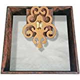 Butterfly Homes Wood Napkin Holder, 7.5 X 7.5 X 2, Black Copper