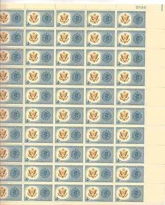 World United Against Malaria Sheet of 50 x 4 Cent Stamps Scott 1194 - 1