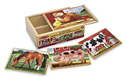 Melissa & Doug Deluxe Farm in a Box Jigsaw Puzzles