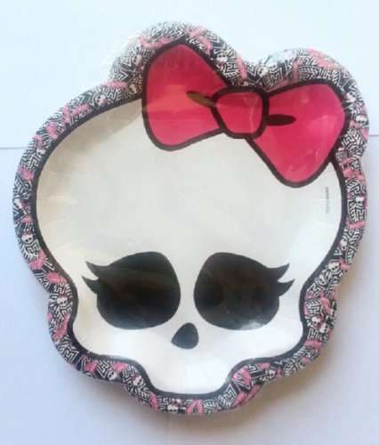 Monster High Party Girl Skull Shaped Dessert Plates - 8 per package