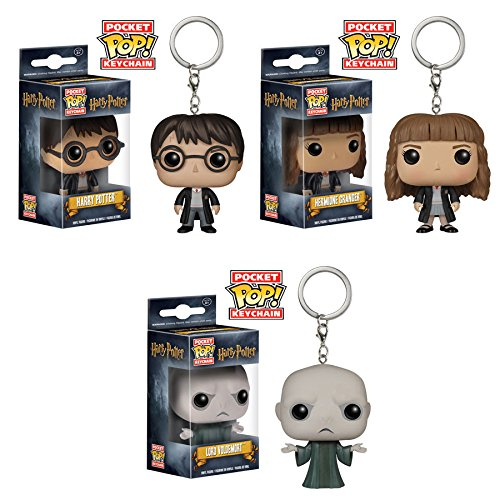 Pocket Pop! Keychains: Harry Potter, Hermione and Dark Lord Voldemort! Set of 3