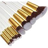 10Pcs White Foundation Makeup Tools Cosmetic Brushes Set Kit