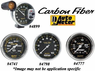 Auto Meter 4741 Carbon Fiber Mechanical Oil Temperature Gauge