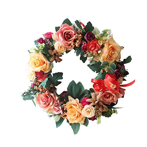 Rose wreath handmade home wall decor VINTAGE STYLE