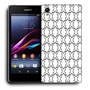Snoogg Abstract Shape Pattern Printed Protective Phone Back Case Cover For Sony Xperia Z4