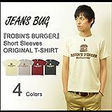 (ジーンズバグ)JEANSBUG ROBIN'S BURGER オリジナル ハンバーガー プリント 半袖 Tシャツ メンズ レディース 大きいサイズ ST-BURGER