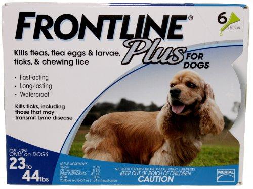 Frontline Plus For Dogs 23-44 Lb, 6 Pk