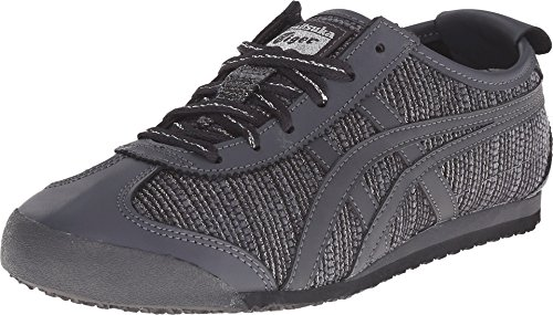 Onitsuka Tiger Women's Mexico 66 Classic Running Shoe, Dark Grey/Dark Grey, 8 M US