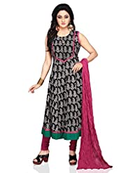 Utsav Fashion Women's Black Cotton Anarkali Readymade Kameez With Leggings-Small