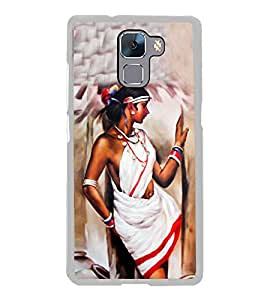 Village Belle Painting 2D Hard Polycarbonate Designer Back Case Cover for Huawei Honor 7 :: Huawei Honor 7 Enhanced Edition :: Huawei Honor 7 Dual SIM