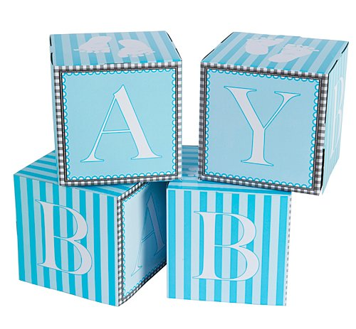 Creative Converting Sweet Baby Feet Blue Centerpiece Blocks