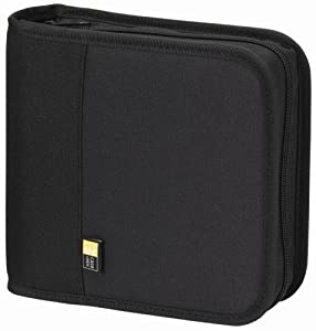 Case Logic BNW-24 Polyester CD/DVD Wallet 24 Capacity (Black)