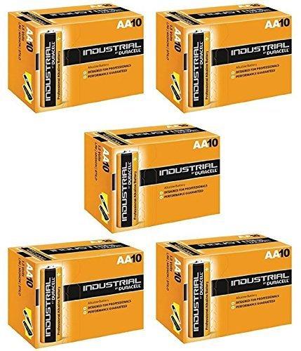 Duracell AA batteria alcalina industriale (Confezione da 50)