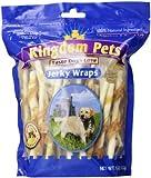 Kingdom Pets Premium Dog Treats, Chicken and Rawhide Jerky Wraps, 16-Ounce Bag