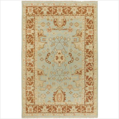 "Ainsley Pale Blue / Rust Brown Oriental Rug Size: 2'6"" x 8' Runner"