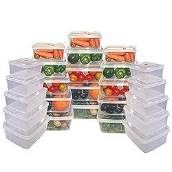 Chetan Fresh Pack Storage Rectangular Boxes, 27 Pc set, White Color