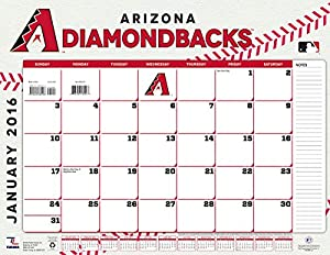 "Turner Arizona Diamondbacks 2016 Desk Calendar, January-December 2016, 22 x 17"" (8061497)"