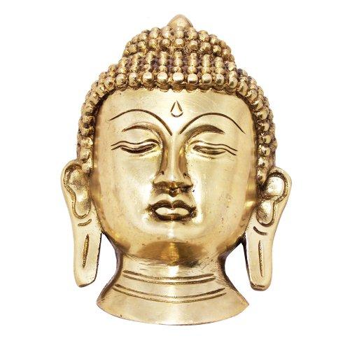 Wall Hanging Buddhism Decorative Statue Buddha Head Brass