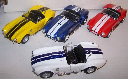 Kinsmart 1/32 Scale Diecast Pullback Action 1965 Shelby Cobra 427 S/c Set of 4 Colors - 1