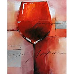 Yosemite Home Decor FC2557-2YM Merlot I Acrylic Painting, 40-Inch, Red