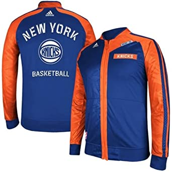 New York Knicks 2013 Adidas NBA On-Court Track Jacket L by adidas
