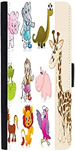 Snoogg Set Of Animal With Backgrounddesigner Protective Flip Case Cover For L...