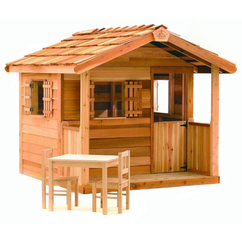 Outdoor Wooden Playhouses Cedar Shed Log Cabin Cedar Playhouse By