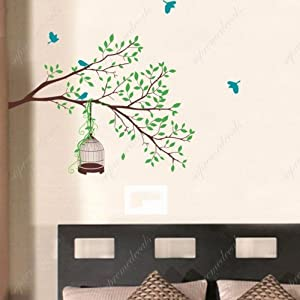 Amazon.com: Custom Color PopDecals - Happy Tree branch - nursery ...