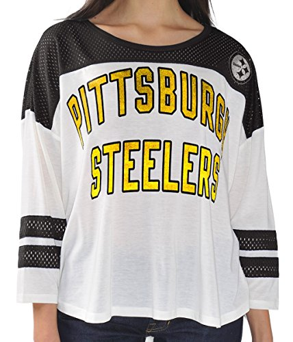 "Pittsburgh Steelers Women's G-III NFL ""Hail Mary"" Tri-blend 3/4 Sleeve T-shirt at Steeler Mania"