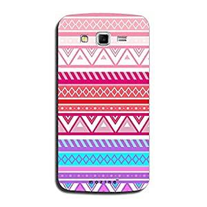 Mozine Aztec Pinky White Pattern Printed Mobile Back Cover For Samsung Galaxy Grand 2