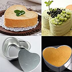 Heart Shape Non-Stick Metal Cake Pan Mould With Drop Bottom Bake Tool