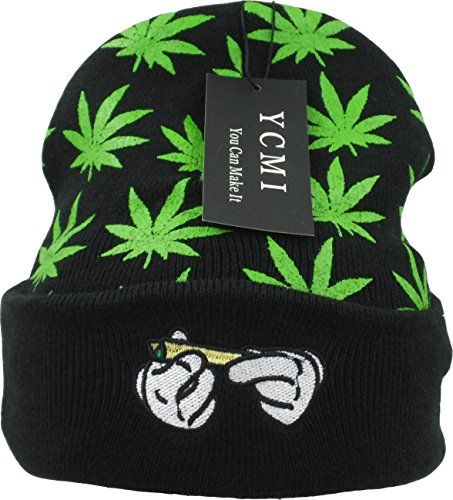 YCMI-Winter-Warm-Mickey-Hands-Letter-Kush-Weed-Marijuana-Beanies-Hat-Skully
