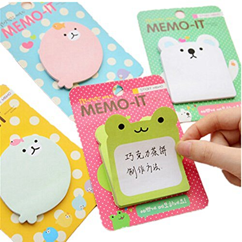 kitmax-tm-pack-of-12-sets-cute-animals-shaped-sticky-notes-gift-for-students-children-style-may-vary