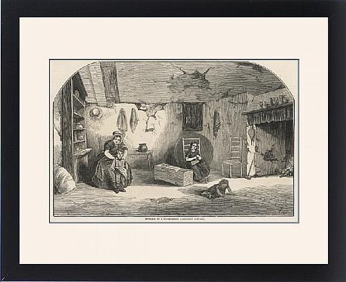 Framed Print Of Interior Of A Dorsetshire Labourer S Cottage front-1066793