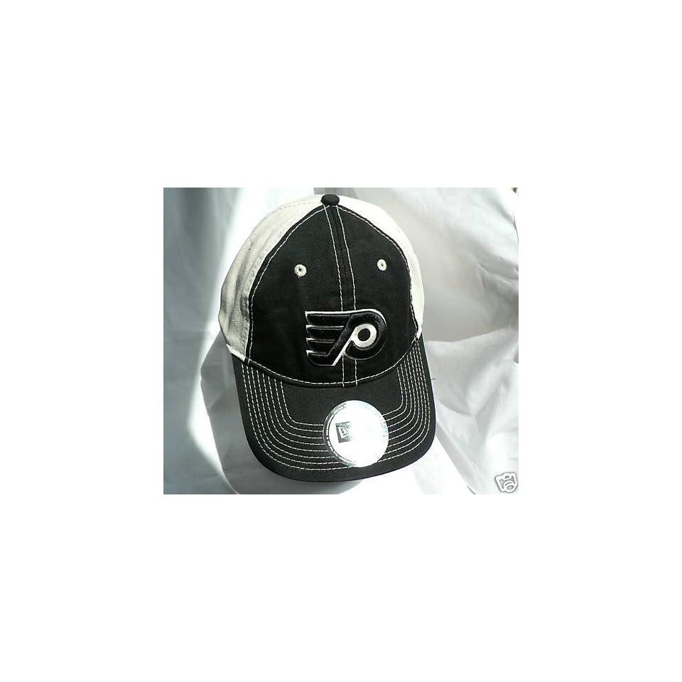 5a26b96cd5f PHILADELPHIA FLYERS HOCKEY NEW ERA BLACK HAT CAP ADJ on PopScreen