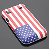 ECENCE Samsung Galaxy S GT-i9000 S Plus i9001 Durable Silicon Gel Skin TPU Case Cover USA flag 14040202
